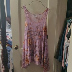 Free People Voile and Lace Trapeze Slip XS